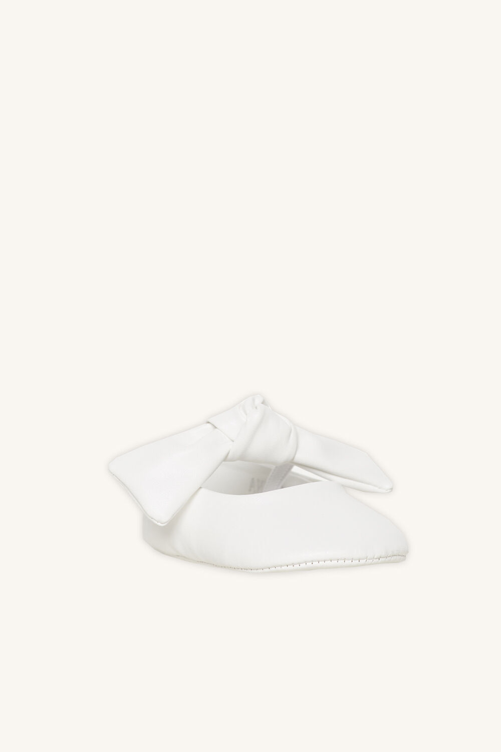 BOW BABY SHOE in colour WHITE ALYSSUM