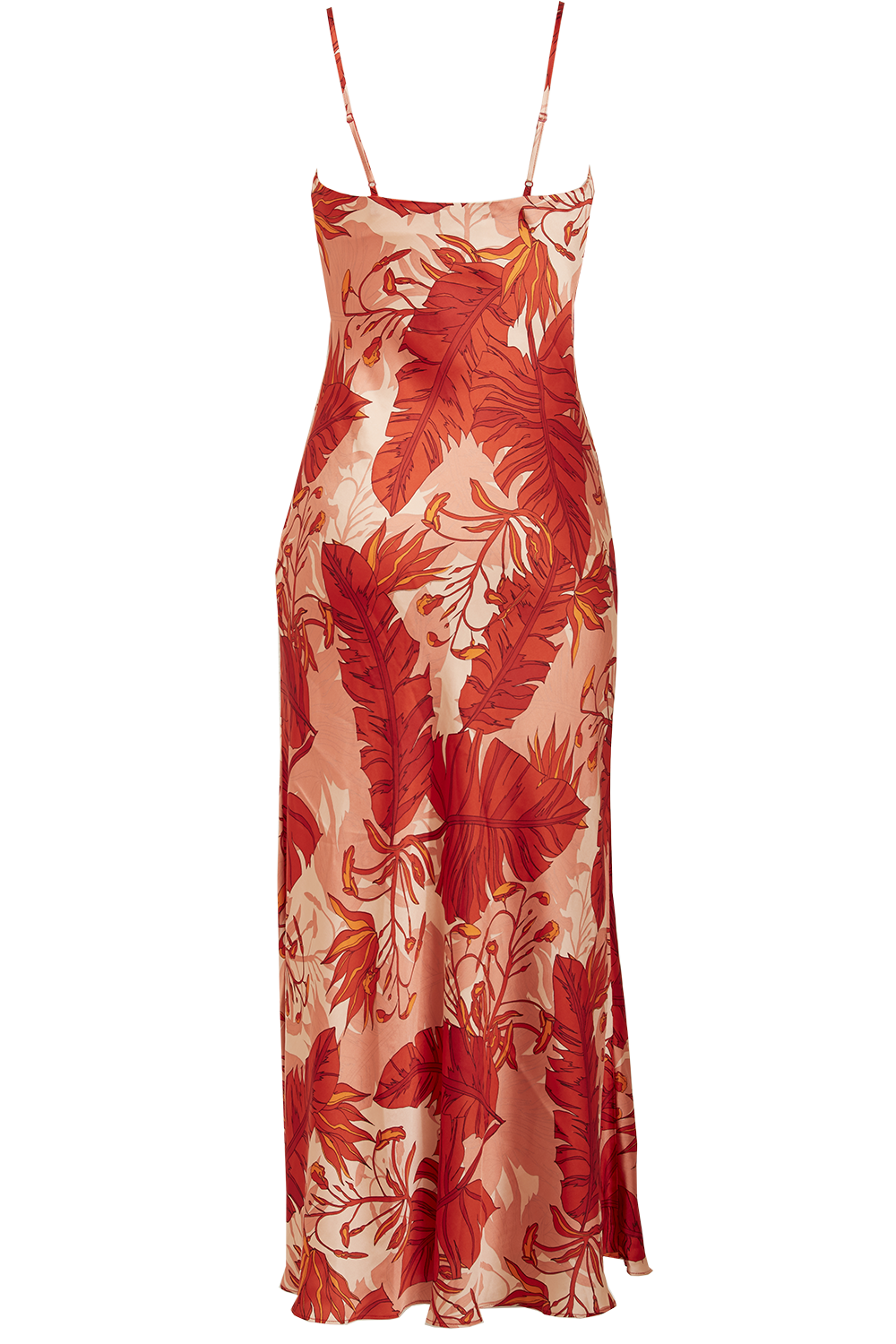 TROPICAL SLIP DRESS in colour MINERAL RED