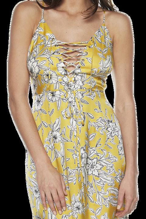 KARINA LACE UP DRESS in colour FREESIA