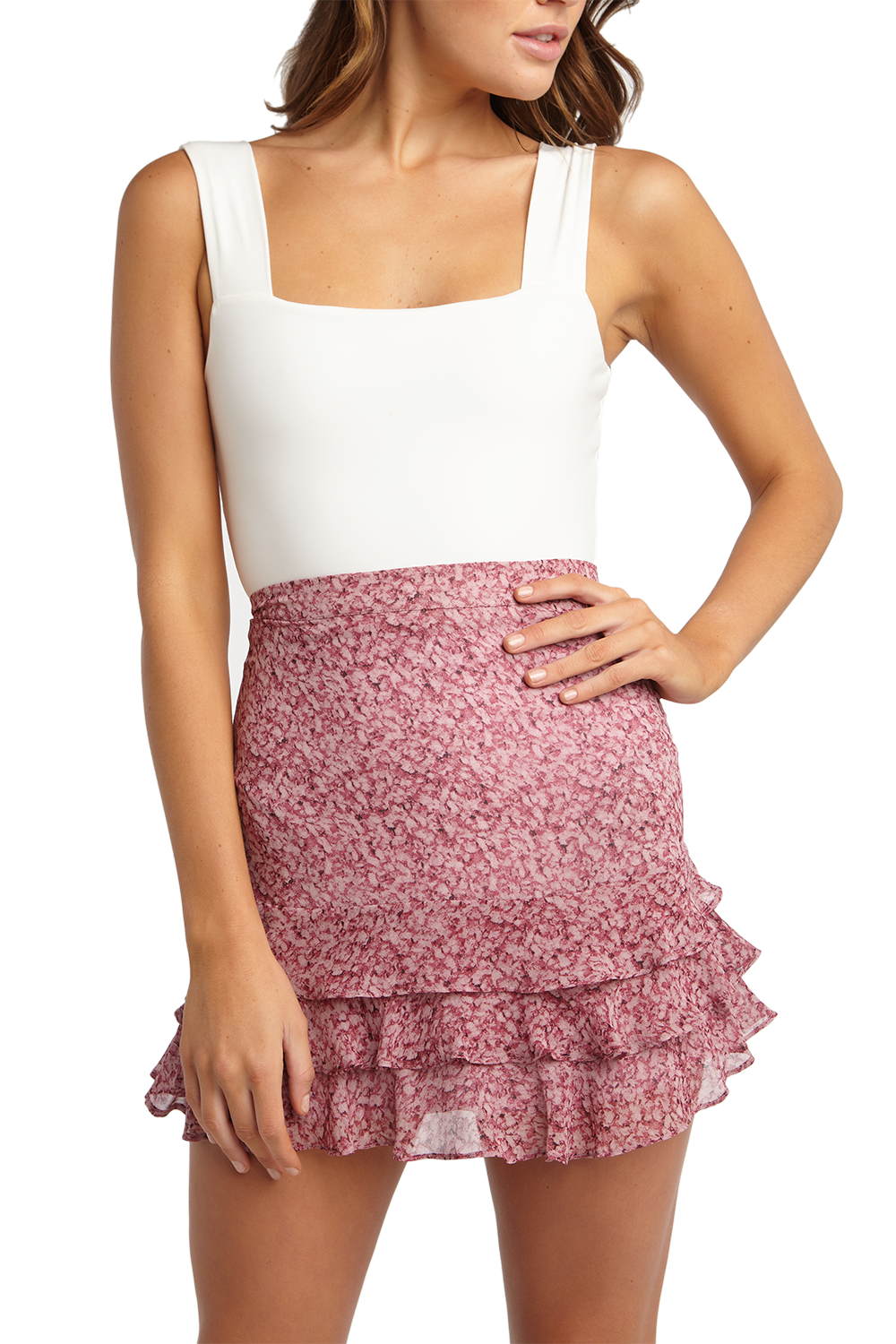 MARLA SKIRT in colour WILD ORCHID