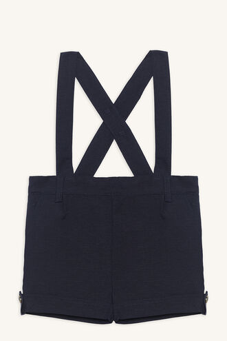 LINEN OVERALL GROW in colour DRESS BLUES