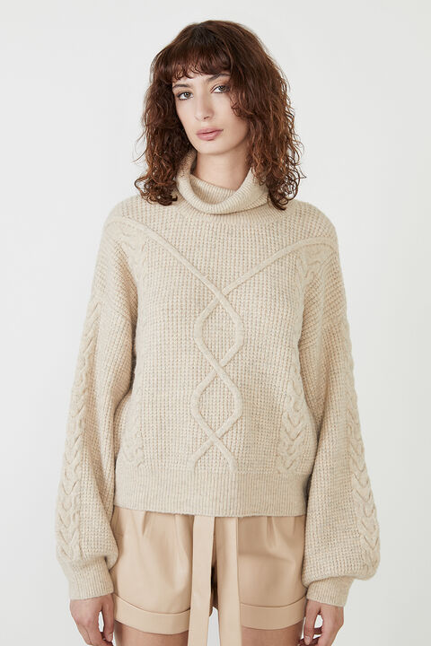 MAYA CABLE KNIT in colour MOONLIGHT