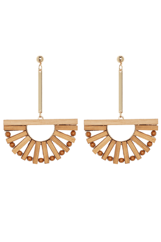 SEESAW EARRINGS in colour BONE BROWN