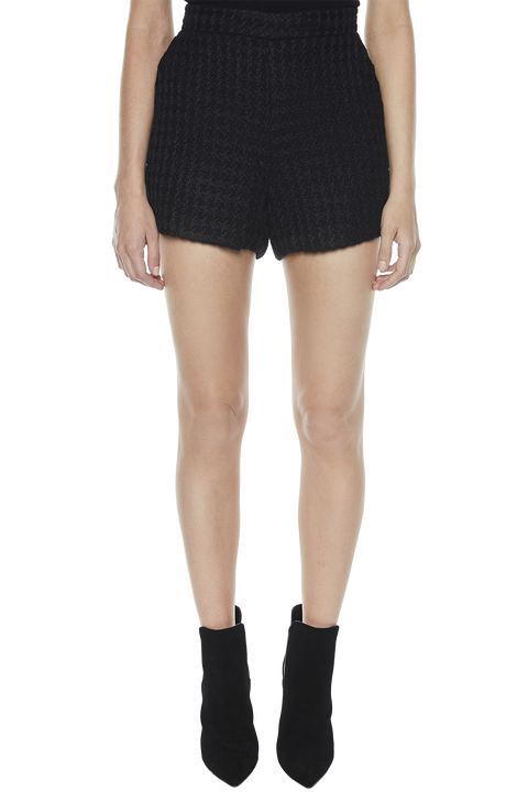 BOUCLE SHORT in colour CAVIAR