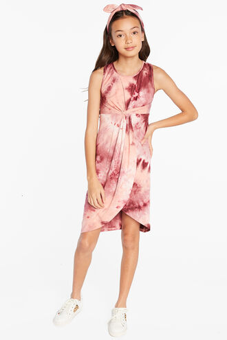 ALLIRA TWIST DRESS in colour MAUVEWOOD