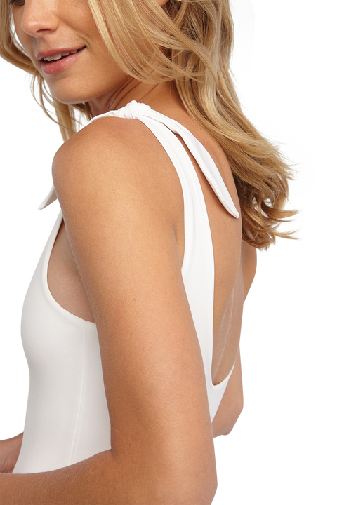 BOW TIE BODYSUIT in colour BRIGHT WHITE