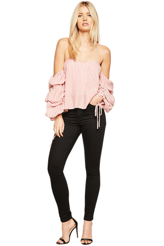 TIE SLEEVE BUSTIER in colour BRIGHT WHITE