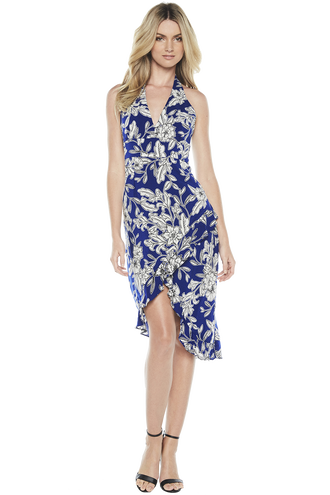 PETRA FLORAL DRESS in colour SURF THE WEB
