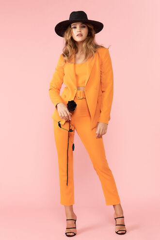 The Parisienne Blazer & Therese Buckle Pant in colour