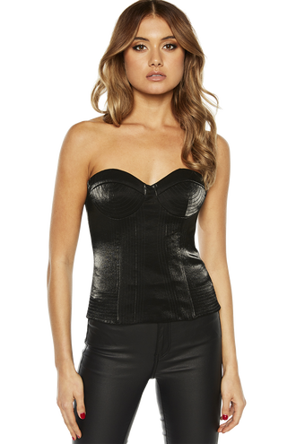 SHINE BUSTIER in colour CAVIAR