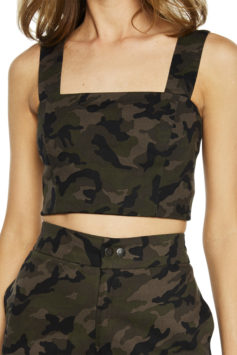 CAMO TOP in colour BURNT OLIVE