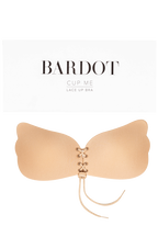 CUP ME LACE UP BRA in colour BEIGE