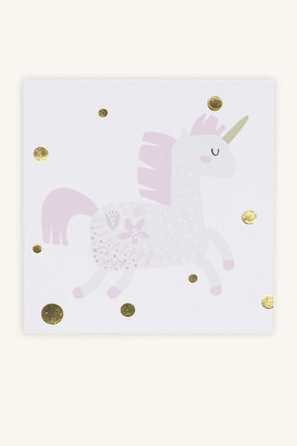 PRETTY UNICORN GIFT CARD in colour PINK CARNATION