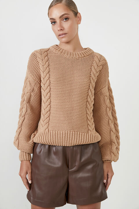 CHLOE CABLE KNIT   in colour SAFARI