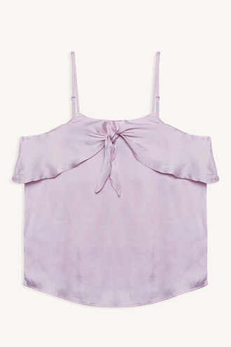 CARINA RUFFLE CAMI in colour ORCHID BLOOM
