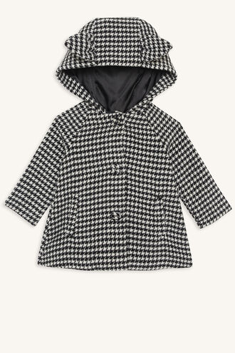 HOUNDSTOOTH COAT in colour CLOUD DANCER