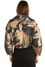 CAMO BOMBER in colour BURNT OLIVE