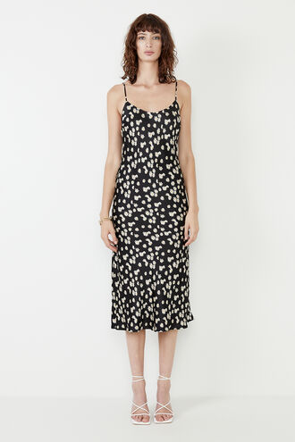 DAISY SLIP DRESS in colour MOLE