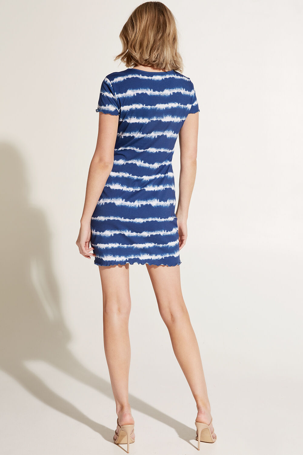 MINI T DRESS in colour BLUE DEPTHS