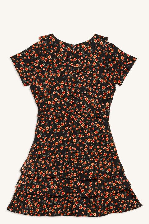 LUELLA WRAP DRESS in colour CAVIAR