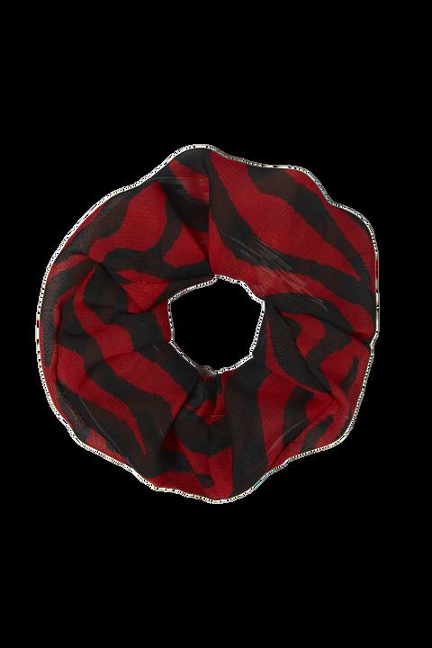 ZEBRA SCRUNCHIE in colour RIBBON RED