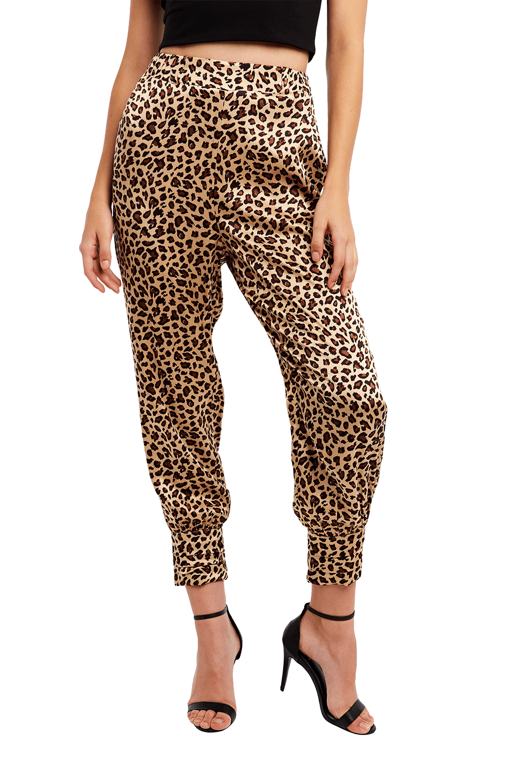 LEOPARD CUFF PANT in colour DESERT MIST