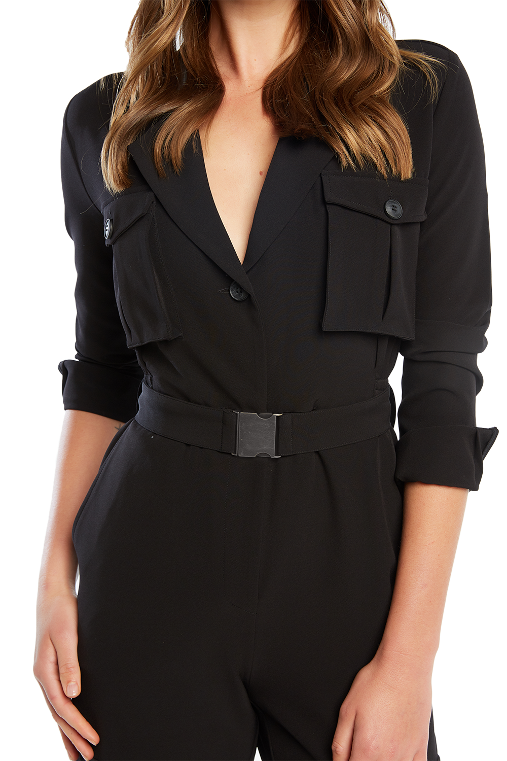 BETHANY PANTSUIT in colour CAVIAR