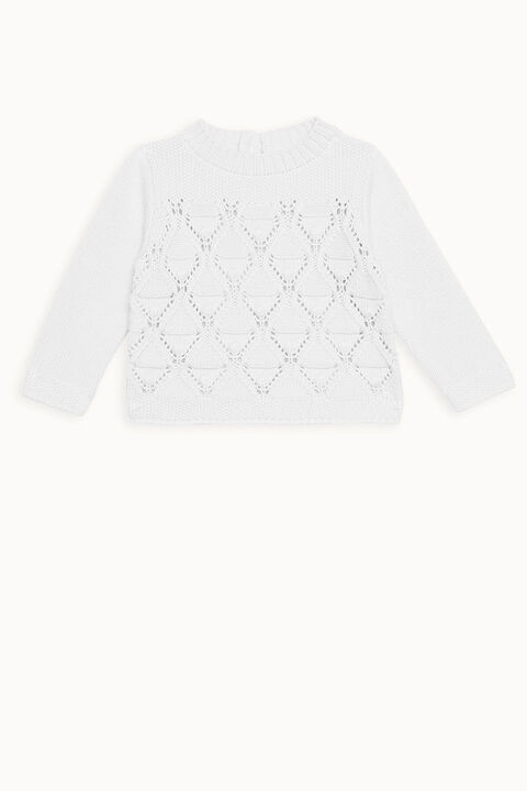 ASHER BOBBLE KNIT in colour WHISPER WHITE