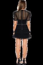 AVA LACE DRESS in colour CAVIAR