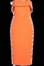 ZORIANNA MIDI DRESS in colour SPICY ORANGE