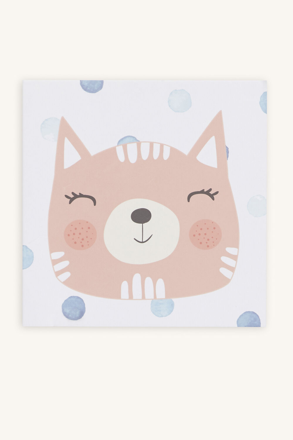 KITTY CAT GIFT CARD in colour BLUE BELL