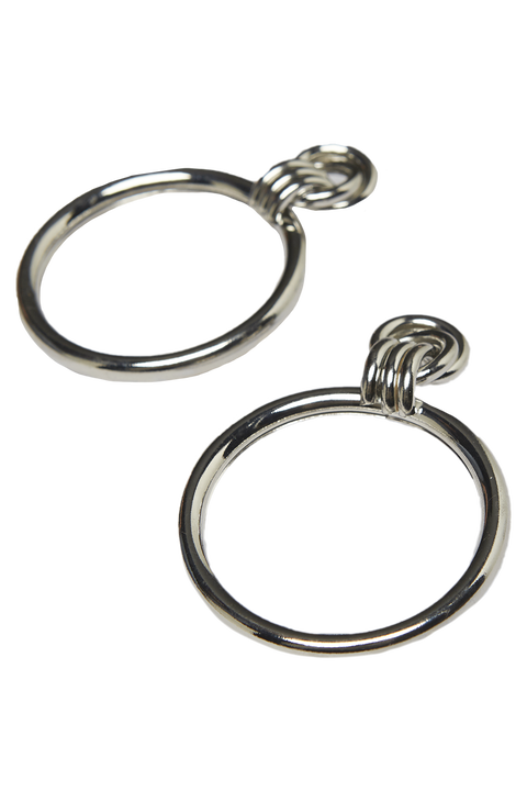 KNOT CONNECTION HOOPS in colour SILVER