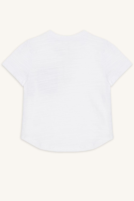 SLUB ASHTON TEE in colour BRIGHT WHITE