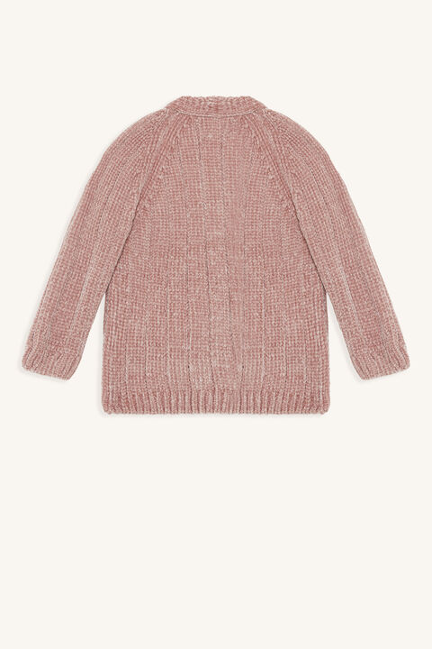 CHENILLE CARDIGAN in colour SILVER PINK
