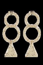 BERMUDA EARRINGS in colour GOLD EARTH