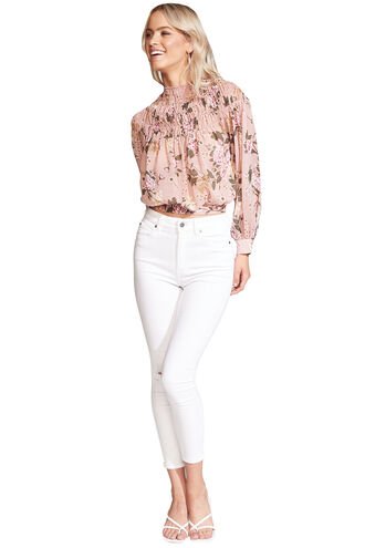 EDITA DREAMY BLOUSE in colour EVENING SAND