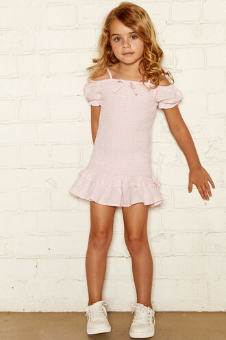 GWEN MINI DRESS in colour BLUSHING BRIDE