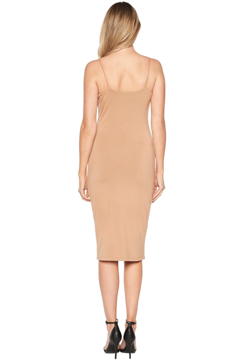 SONIA DRESS in colour PRALINE