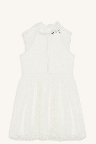 LACE PANEL DRESS in colour CLOUD DANCER