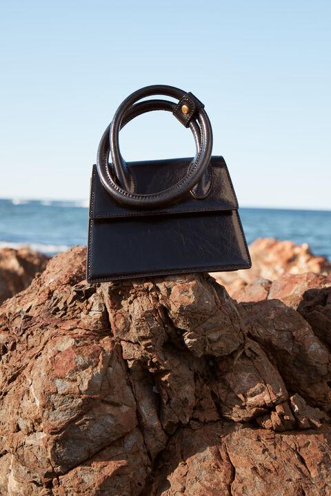 THE TESSA BAG in colour CAVIAR