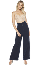 STEF WIDE LEG PANT in colour PATRIOT BLUE