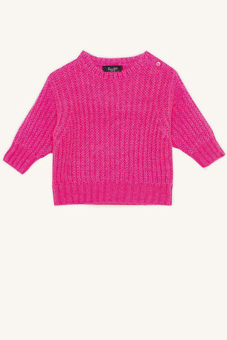 KAI COSY NEON KNIT in colour BEETROOT PURPLE
