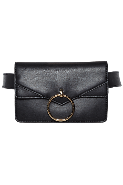 STRUCTURED BELT BAG in colour METEORITE