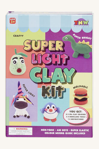 SUPER LIGHT MOULDING CLAY KIT in colour BRIGHT WHITE