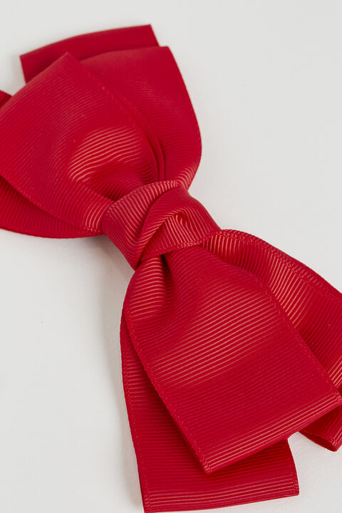 RED OVERSIZE BOW in colour FIESTA
