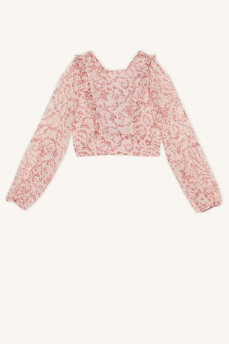 ALICE RUFFLE TOP in colour POTPOURRI
