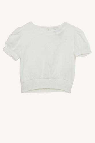 ERYN S/S BLOUSE in colour CLOUD DANCER