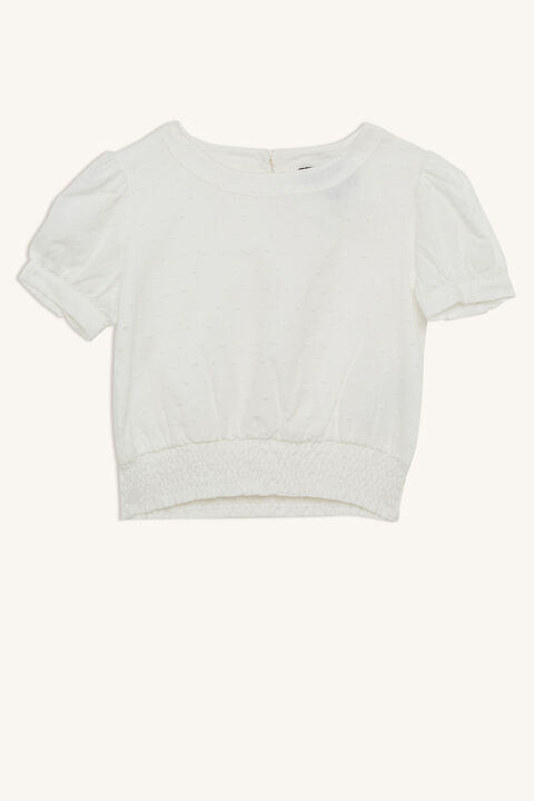 eryn short sleeve blouse in colour CLOUD DANCER