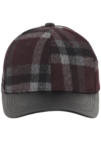 LUMBER CHECK CAP in colour PORT