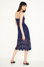 KOKO LACE DRESS in colour MARITIME BLUE